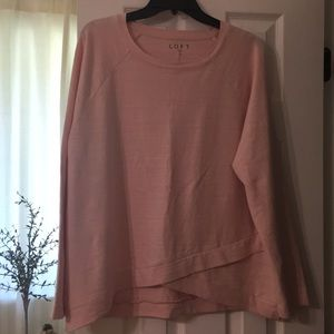 Loft heathered pink French terry sweatshirt